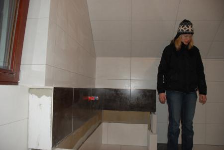 Pasivní dům - koupelna v patře