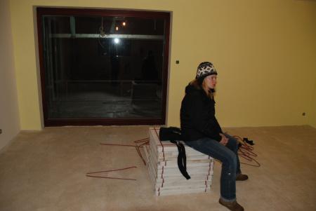 Pasivní dům - rozjímání v obýváku