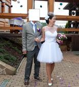 Svatební šaty krátké, 36