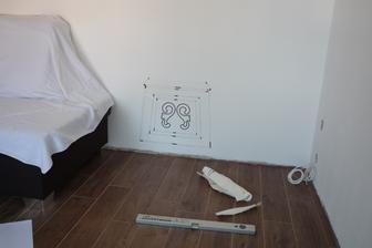 Inspirace a pomoc z Ikea, jinak ručně malované (jen jako šablona)