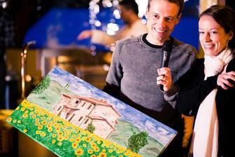 Jeden z toskánských obrazů také jako svatební dar pro mé kamarády:-)