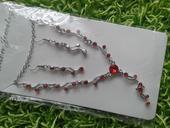 Luxusní set šperků na svatbu červená,