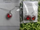 Luxusní set šperků na svatbu červená srdce,