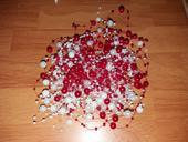 svatební girlandy perličkové perlové,