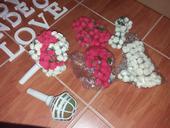 korpus pro tvorbu svatební kytice na házení + růže,