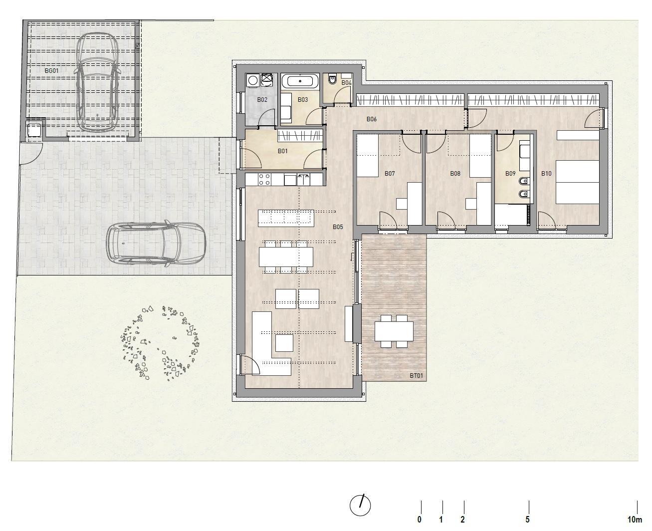 Nové bydlení ve městě - původní půdorys domu bude otočen na západ a upraven