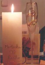 Svadobná sviečka a čaša