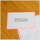 Pozvánka ke svatebnímu stolu SOPHIE,