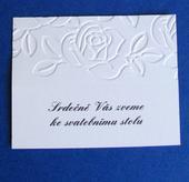 Pozvánka ke svatebnímu stolu/raut JASMINE II.,