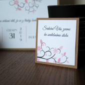 Pozvánka ke svatebnímu stolu RUSTIC,