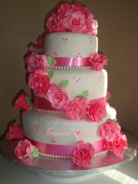 Ružové torty inšpirácie - Obrázok č. 3