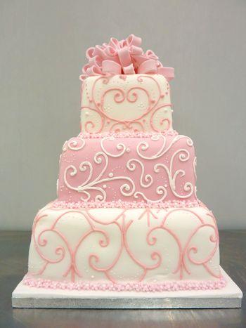 Ružové torty inšpirácie - Obrázok č. 5