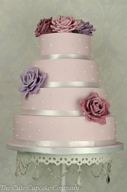 Ružové torty inšpirácie - Obrázok č. 9