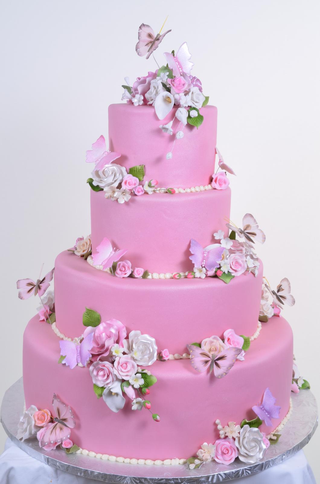 Ružové torty inšpirácie - Obrázok č. 12