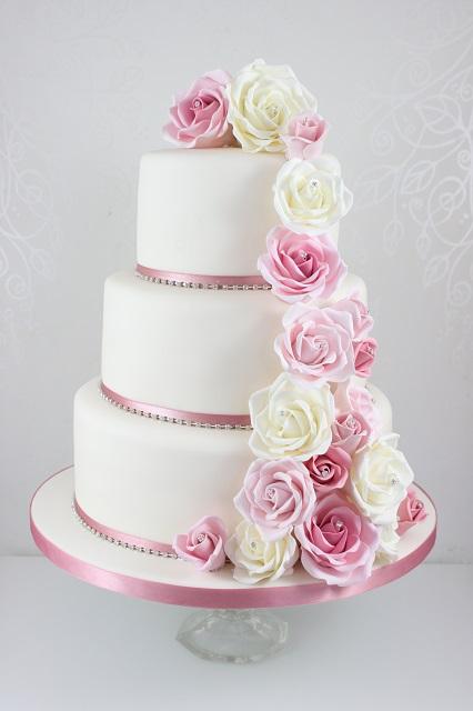 Ružové torty inšpirácie - Obrázok č. 20