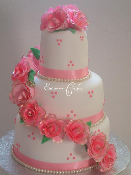 Ružové torty inšpirácie - Obrázok č. 22