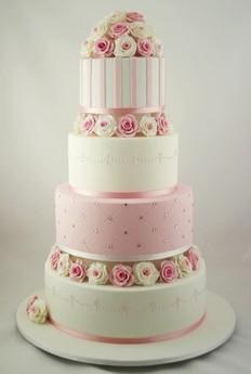 Ružové torty inšpirácie - Obrázok č. 23