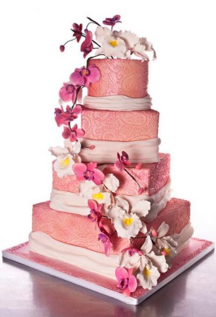 Ružové torty inšpirácie - Obrázok č. 36