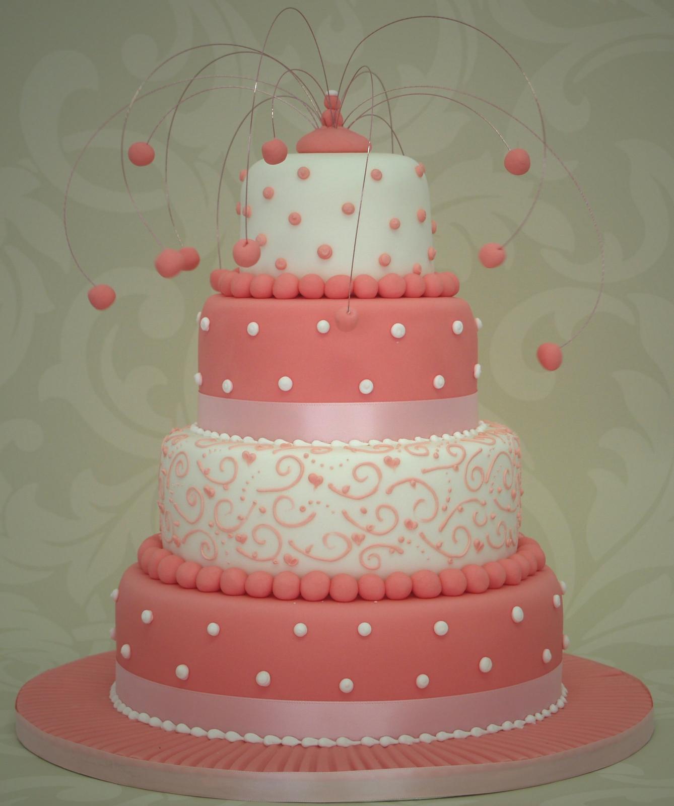Ružové torty inšpirácie - Obrázok č. 44