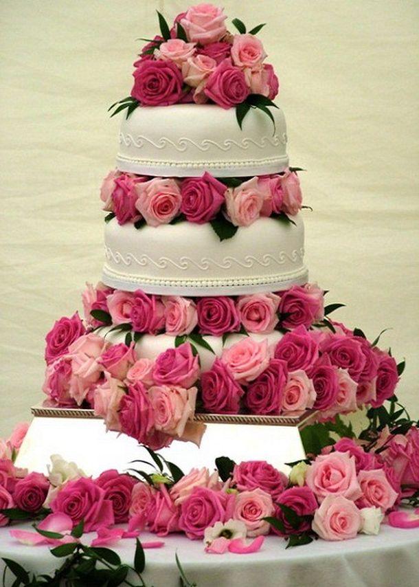 Ružové torty inšpirácie - Obrázok č. 45