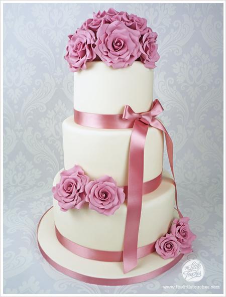 Ružové torty inšpirácie - Obrázok č. 46