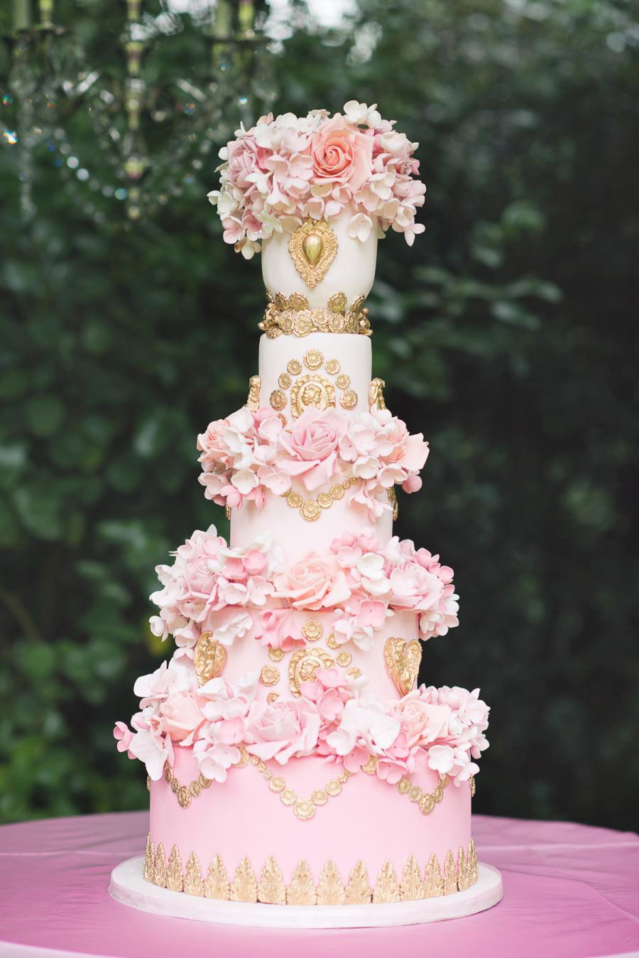 Ružové torty inšpirácie - Obrázok č. 54