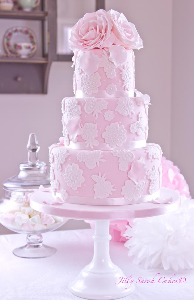 Ružové torty inšpirácie - Obrázok č. 56