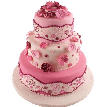 Ružové torty inšpirácie - Obrázok č. 59