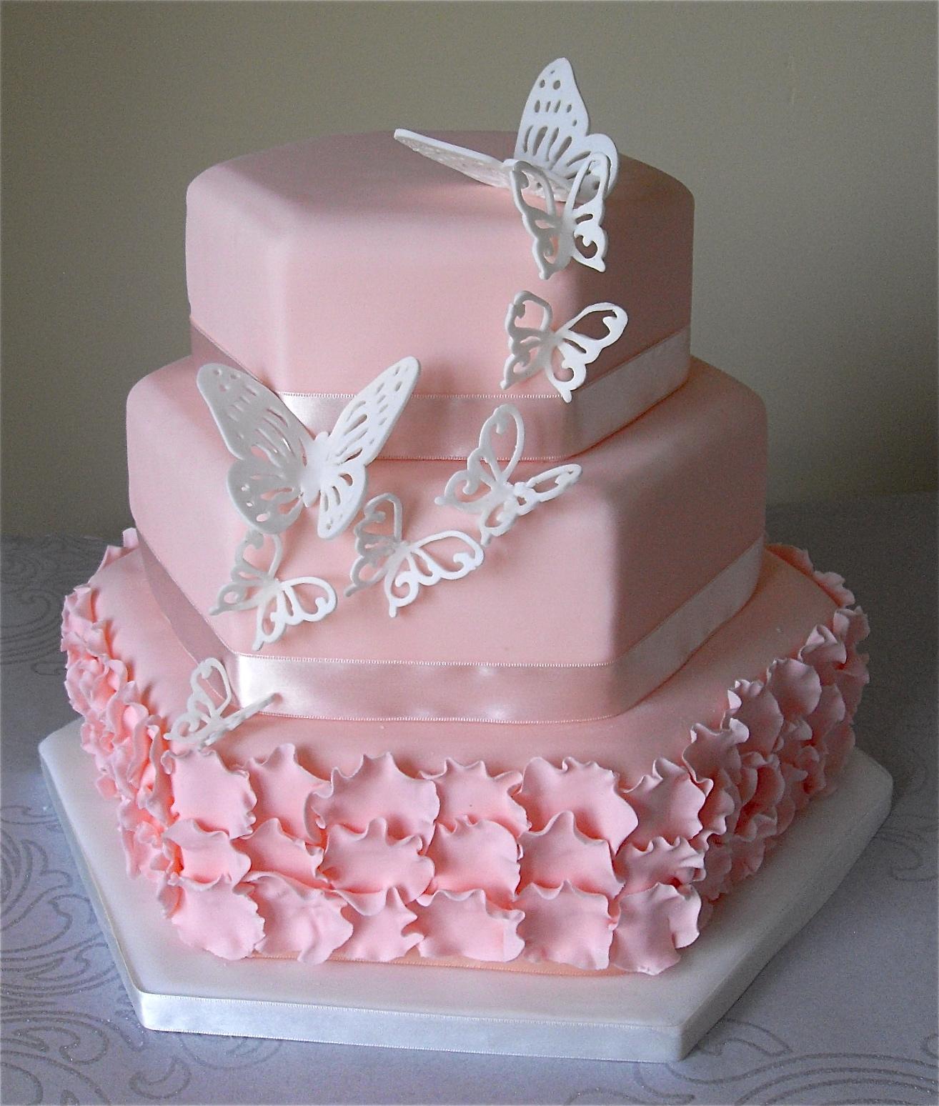 Ružové torty inšpirácie - Obrázok č. 60