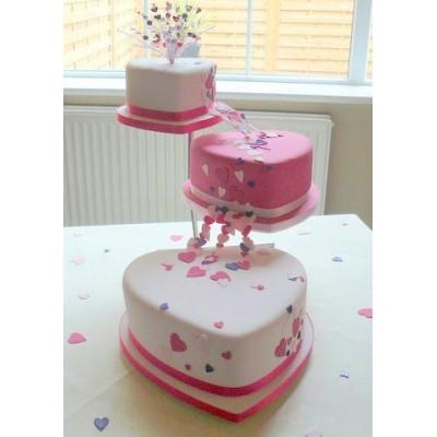 Ružové torty inšpirácie - Obrázok č. 63