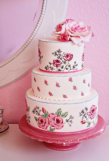 Ružové torty inšpirácie - Obrázok č. 71