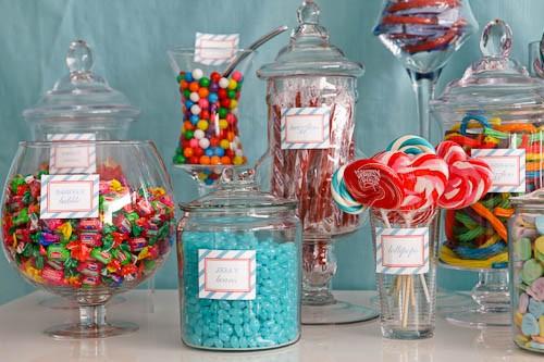 Candy bar alebo sladkosti na svadbe - Obrázok č. 1
