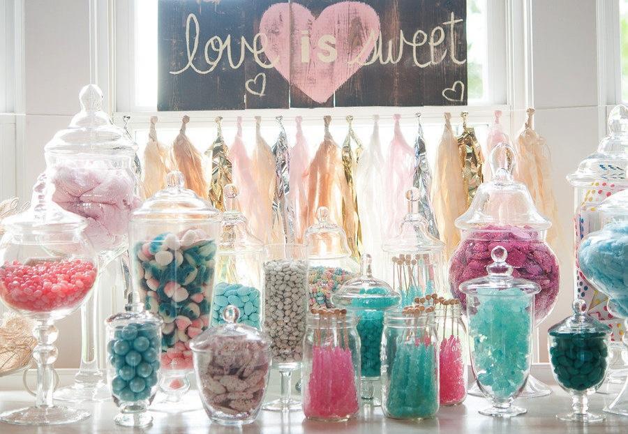 Candy bar alebo sladkosti na svadbe - Obrázok č. 34
