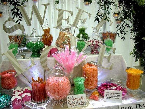 Candy bar alebo sladkosti na svadbe - Obrázok č. 38
