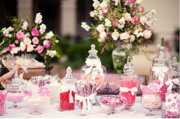 Candy bar alebo sladkosti na svadbe - Obrázok č. 49