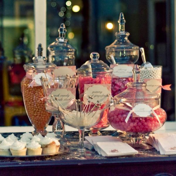 Candy bar alebo sladkosti na svadbe - Obrázok č. 67