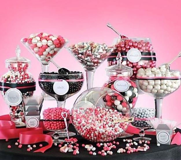 Candy bar alebo sladkosti na svadbe - Obrázok č. 69
