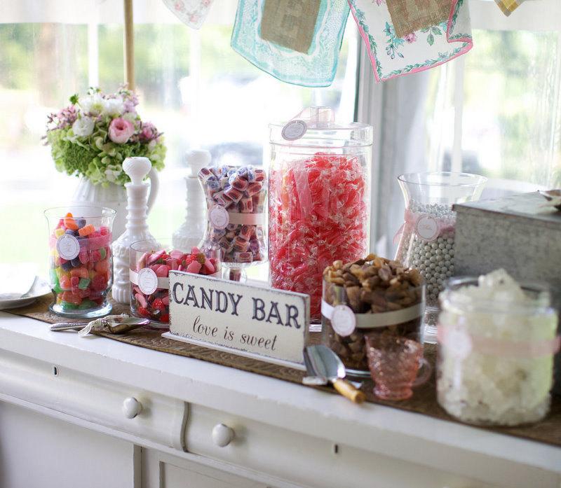 Candy bar alebo sladkosti na svadbe - Obrázok č. 96