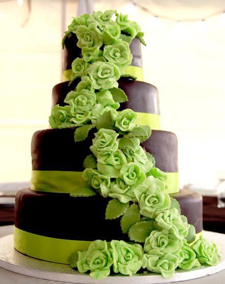 Zelené torty inšpirácie - Obrázok č. 16