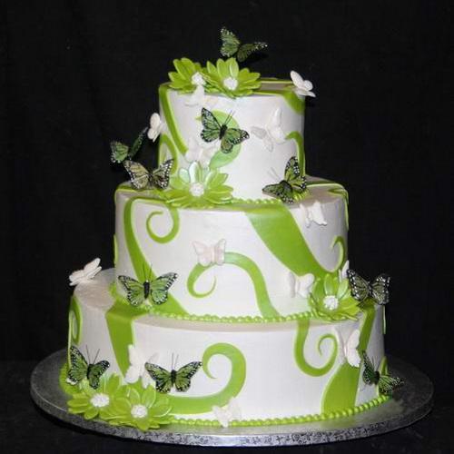Zelené torty inšpirácie - Obrázok č. 27
