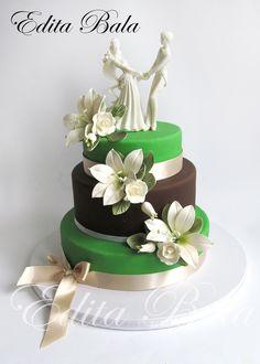 Zelené torty inšpirácie - Obrázok č. 39