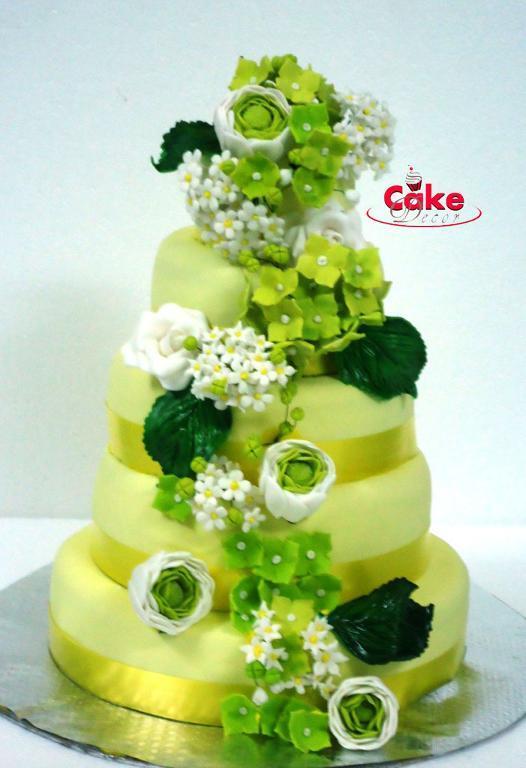 Zelené torty inšpirácie - Obrázok č. 44