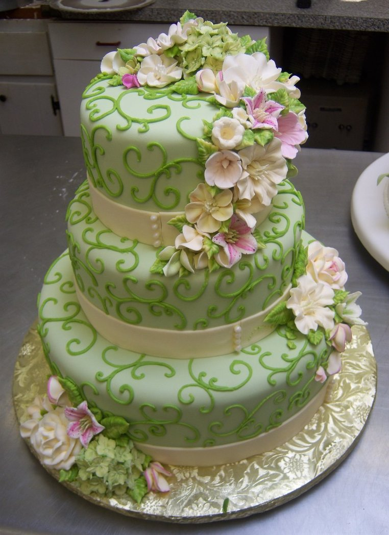 Zelené torty inšpirácie - Obrázok č. 50