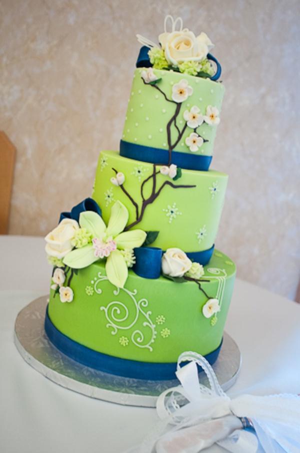 Zelené torty inšpirácie - Obrázok č. 92