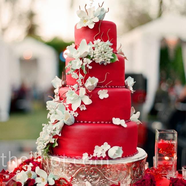 Červené torty inšpirácie - Obrázok č. 1