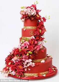 Červené torty inšpirácie - Obrázok č. 5