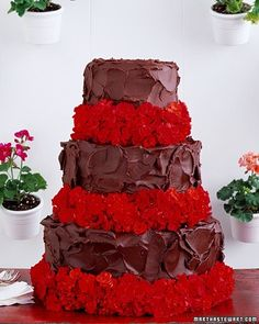 Červené torty inšpirácie - Obrázok č. 8