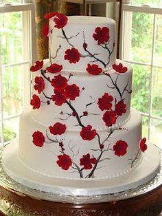 Červené torty inšpirácie - Obrázok č. 10