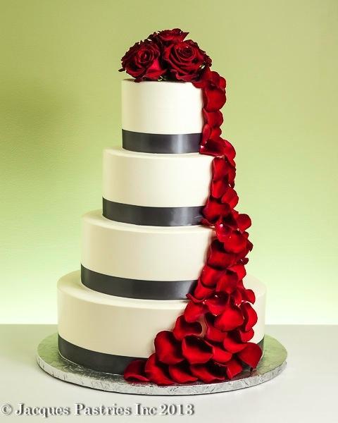 Červené torty inšpirácie - Obrázok č. 12
