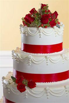 Červené torty inšpirácie - Obrázok č. 15